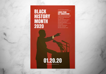 Black History Month Event Flyer Layout