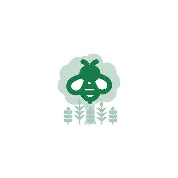 Green Regenerative Vector Illustration of Biodiversity