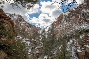 Parco Nazionale Zion, Stati Uniti, Inverno