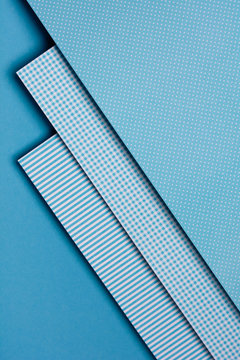 Blue geometric shapes. Material design concept