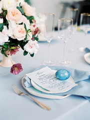 Easter table serving