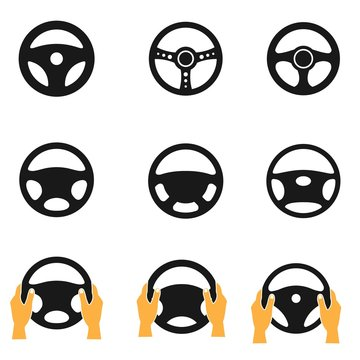 Car steering wheel vector icon, simple logo vector illustration for graphic and web design.