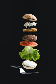 Mouth-watering burger with delicious ingredients.