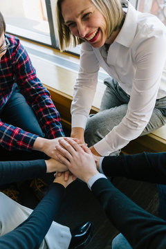 Successful Business Team Group Handshake