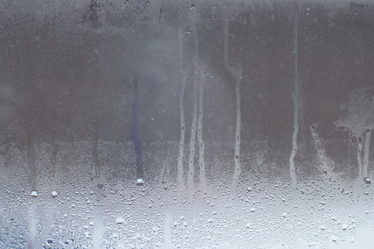 foggy glass texture with water drops