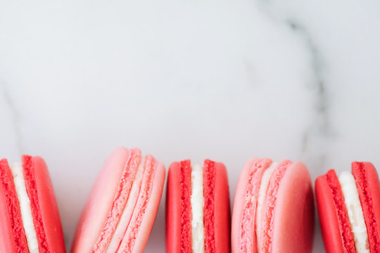 A base of macarons on a simple surface