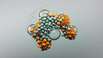 Abstract render with spheres