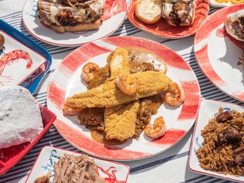 Cajun Food Stock Photo