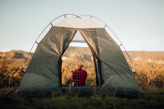Camping in the Australian outback