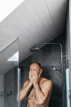 Senior Man Morning routine