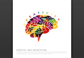 Colorful Brain Creativity Infographic