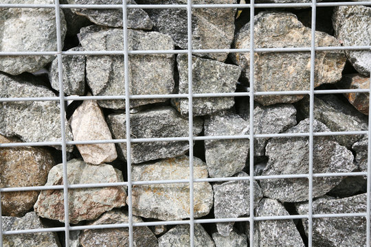 a wall stacked with stones