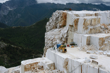 View on marble quarry
