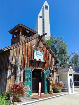 SAN DIEGO, California - September 12, 2018: San Diego SEAPORT VILLAGE, Waterfront Shopping and Dining opened in 1980