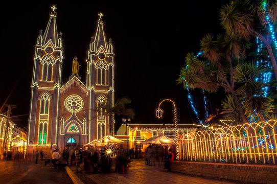 Christmas lighting in Corrales Boyacá Colombia