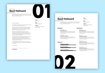 Large Number Resume Layout Set