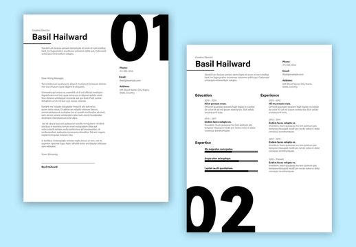 Large Number Resume Layout Set
