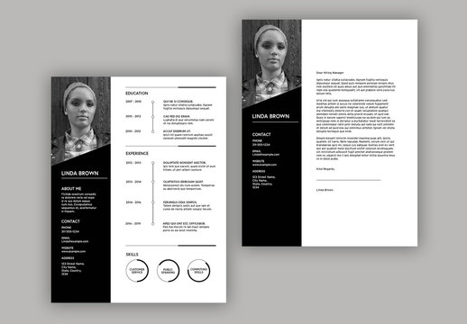 Infographic Resume with Black Accents Layout