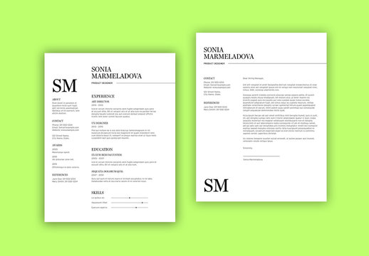 Minimal Resume Layout Set