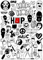 Hip Hop Vector Set
