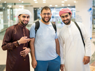 Group of Arab young men