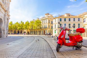 Red Vespa in France