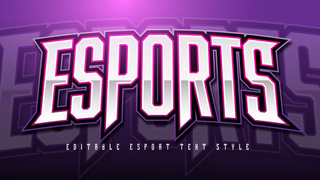 Esport Text Style effect Mockup