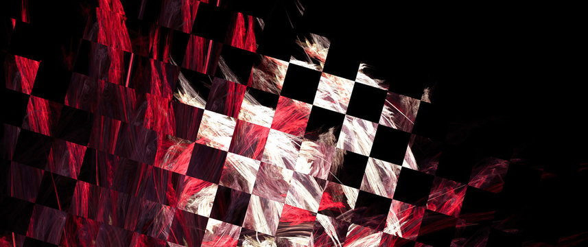 Expressive abstract background, stylized similar to the checkered flag. With beautiful reflections of light. For the design in racing cars, rally, speed, competition, championship.