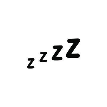 Zzz sleep icon Vector illustration. On white background.