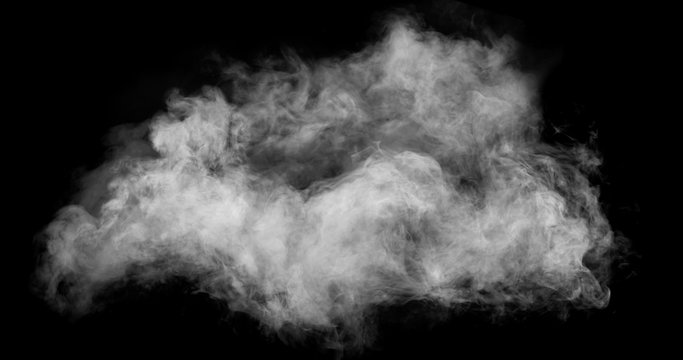 White Smoke with Black Background
