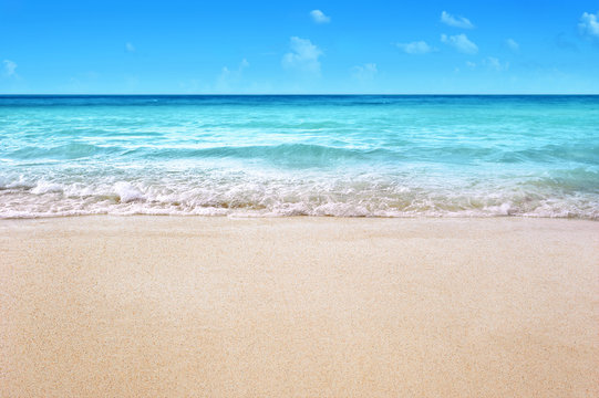 white sandy tropical summer beach background