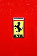 PRAGUE. CZECH REPUBLIC-MAY 16, 2016: the Ferrari, an Italian sports car manufacturer based in Maranello, Italy, founded by Enzo Ferrari in 1929.