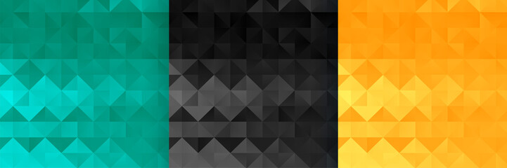 abstract triangle and diamond style pattern set