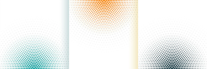 abstract halftone white background set in three colors Papier Peint