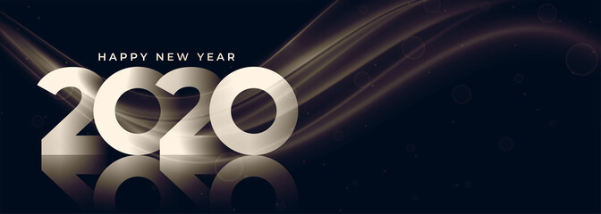 2020 new year banner with text space design Fotomurales