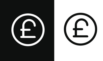 Financial Item Icons vector design black and white