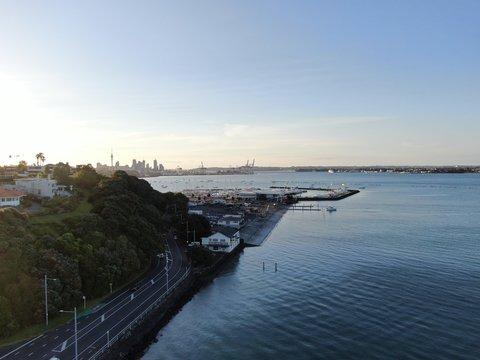 Judges Bay, Auckland / New Zealand - December 14, 2019: The Judges Bay, Okahu Bay and Hobson Bay