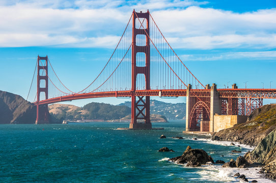 The famous Golden Gate Bridge - one of the world sights in San Francisco California
