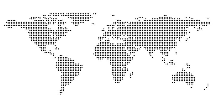 Dotted World Map (high-res)