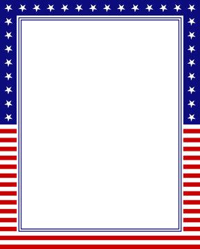 USA frame background