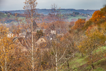 Allassac (Corrèze, France) - Vue automnale