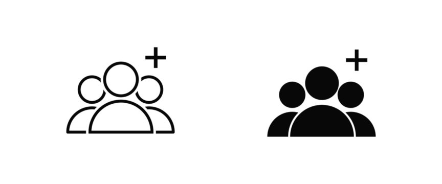 add group vector isolated icon vector