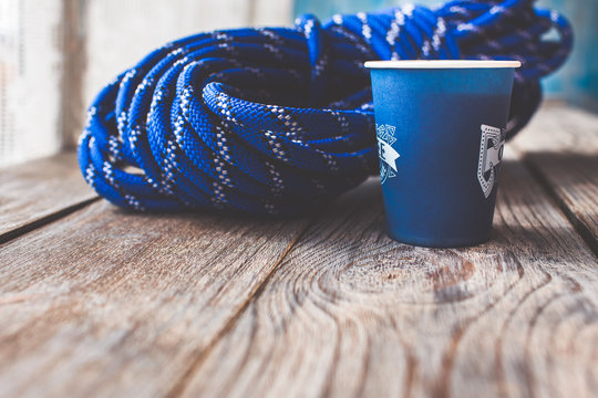 blue climbing rope