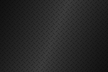 Black metal plate texture, stainless steel background with gradient, modern vector illustration