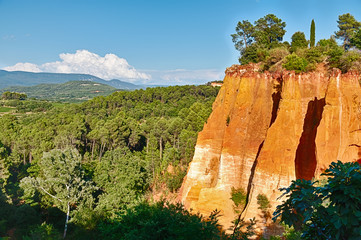 Wall Mural - Red Cliffs Of Roussillon