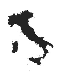 Italy map icon. vector isolated high detailed silhouette image