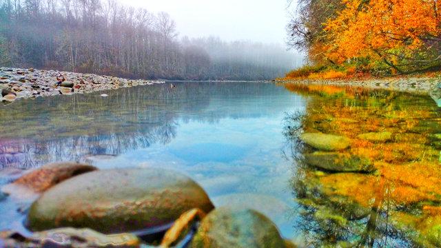 Skagit River Early Winter Morning