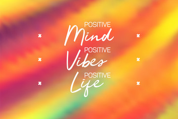 Canvas Prints Positive Typography Positive mint, vibes and life poster. Inspirational quote banner.