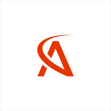 the letter A logo, and the launch logo