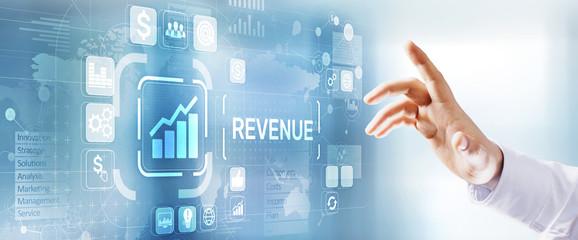 Increase revenue profit growth business development concept.